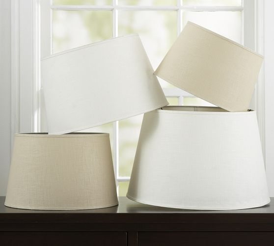 Pottery Barn Marston Lamp: Linen Tapered Drum Lamp Shade XL