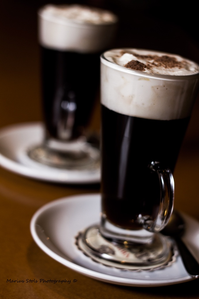 Irish coffee made by my Food & Beverage students.