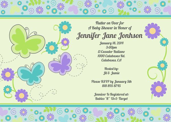 19 best printable customized baby boy shower invitations images on butterflies and flowers baby shower invitation teal purple and lime green each invitation measures or totally customizable wording filmwisefo
