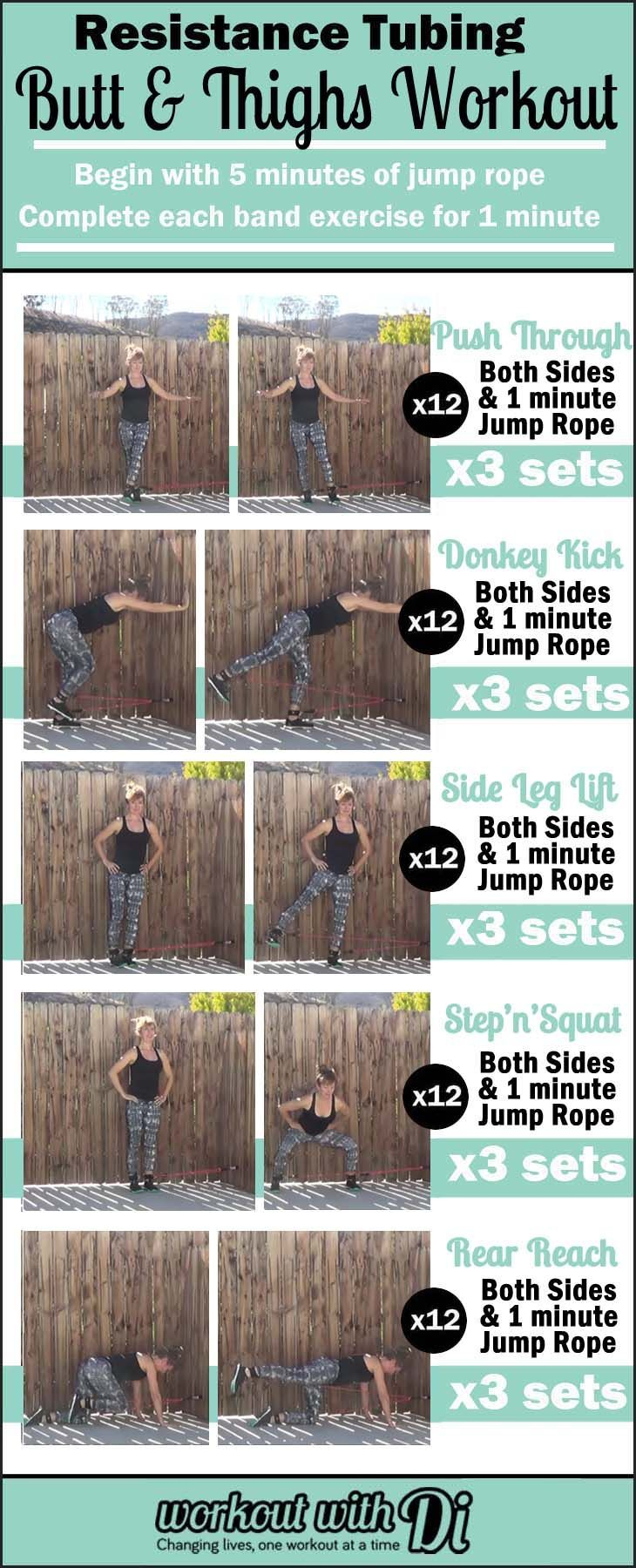 Looking to tighten and tone your booty? Try this butt and thigh interval workout using resistance bands.