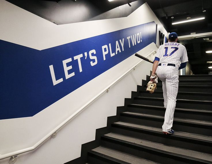 """Mr. Cub said it best! """"Let's play two!"""""""