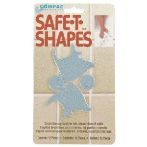 Compac Safe-T-Shapes Bathtub Appliques, Blue Fish, 3 Count by Compac. $16.98. Easy to apply and clean. Clean bathtub as usual to keep Safe-T-Shapes fresh. Not for use on textured bathtub surfaces. Make bath time safe and fun. Safe-T-Shapes are colorful, decorative bath appliqués that prevent slips and falls in the bathtub or shower. Safe-T-Shapes are permanent, so once in place, you'll never have to worry about slippery bath surfaces agaInches So easy to app...