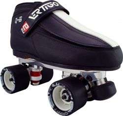 Vertigo Q6 Power Trac Tuxedo Quad Speed Skates  www.skateoutloud.com