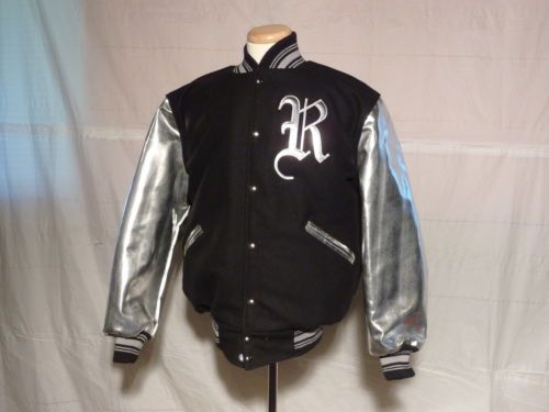 WOOL AND CHROME LEATHER VARSITY LETTERMAN JACKET - ONE OF A KIND