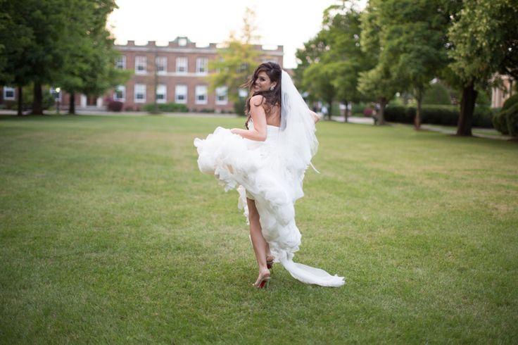 St. Andrew's College bride running