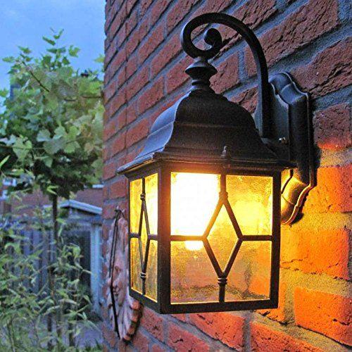 QAZQA Classique/Antique, Rustique Lanterne d'extérieur murale Londen pour extérieur, Verre, Aluminium, Cube, Carré / Compatible pour LED E27 Max. 1 x 60 Watt: Amazon.fr: Luminaires et Eclairage