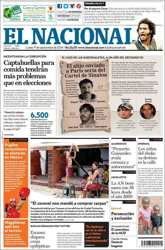 #Titulares de @elnacionalweb  Lunes 01/09/2014 #DesayunoInformativo #Noticias #Prensa #PrimeraPagina
