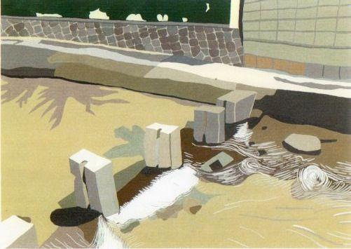 流れ2。2011年6月。OPAギャラリー「水景」展。
