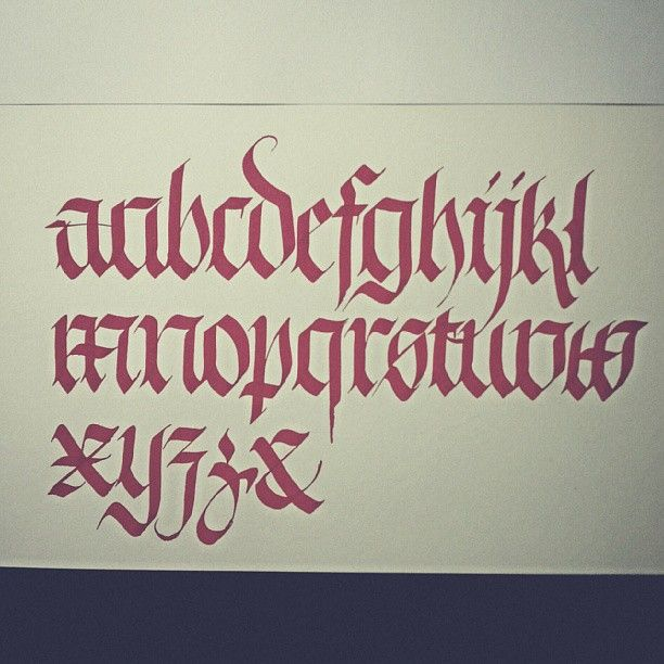 First Complete Alphabet Of Fraktur Calligraphy