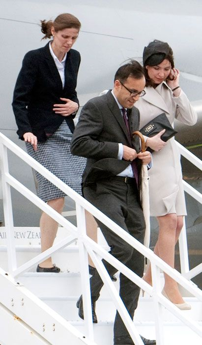 Royal tour 2014: Who's who in Kate Middleton and Prince William's entourage - Nanny to Prince George Maria Teresa Turrion Borrallo (left), the Duke of Cambridge's press secretary Miguel Head and Rebecca Deacon, Kate's private secretary.