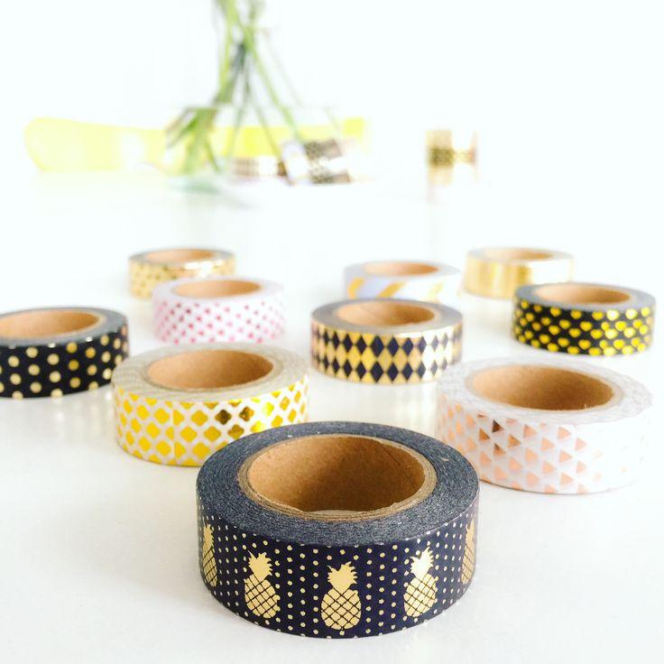 Washi tape / pineapple / gold foil / Studio Stationery