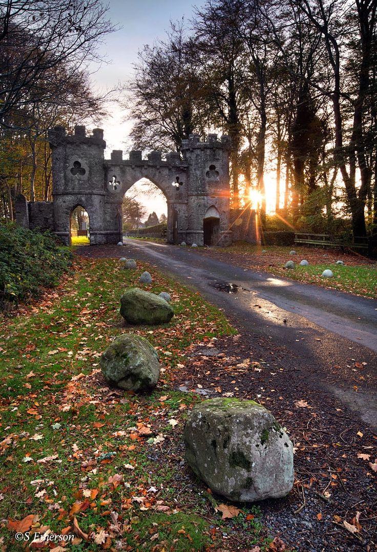 """The Barbican Gate entrance to Tollymore Forest Park, near Newcastle, Northern Ireland."" - The Barbican Gate by Stephen Emerson on 500px"