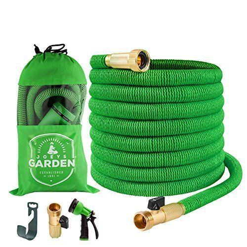 Garden Hose Extra Strong Stretch Material with Brass Connectors 50 Feet Green  #GardenHoseExtraStrongStretch