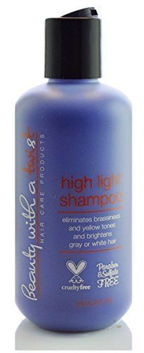 Purple Shampoo for Blonde or Highlighted Hair Eliminates Brassiness and Yellow Tones Brightens Gray or White Hair 100 Cruelty Free Fl 8 Oz Salon Quality Hair Care Beauty With A Twist *** Read more reviews of the product by visiting the link on the image.