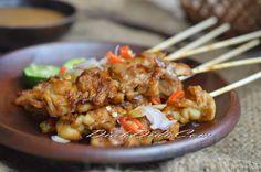 Diah Didi: Sate Jamur Tiram Bumbu Kacang
