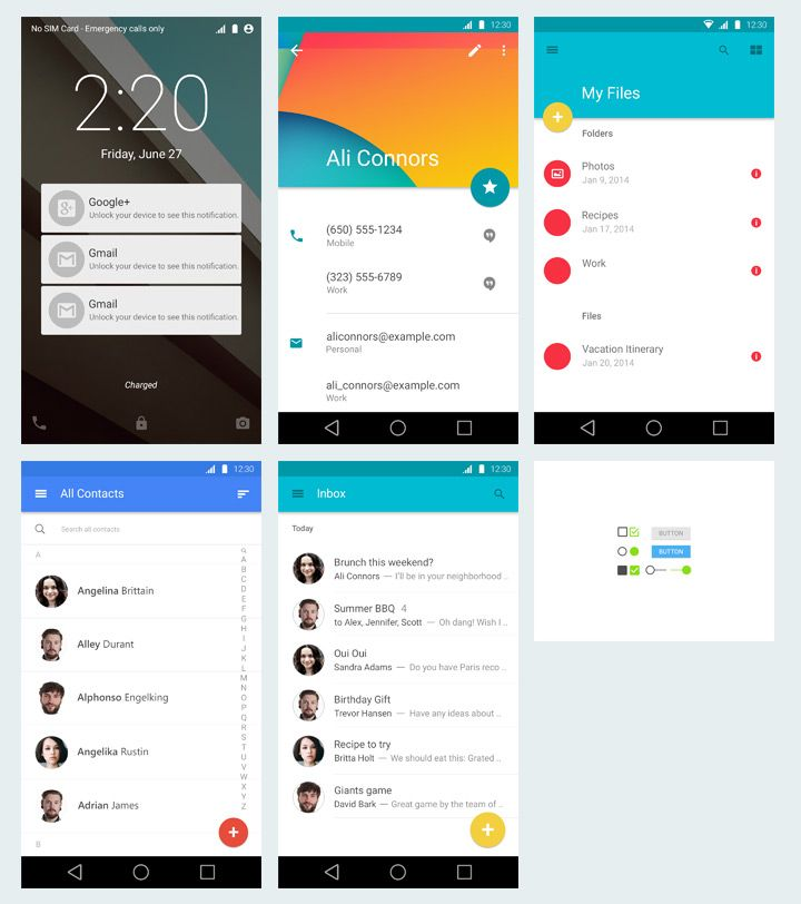 Exclusive freebie of this week is an Android Material Design free PSD package provided by Donart Selimi. It includes 5 screens and ansome e...