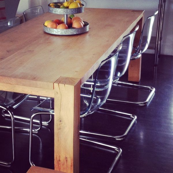 ikea tobias chairs crate and barrel big sur table love the mix of rustic