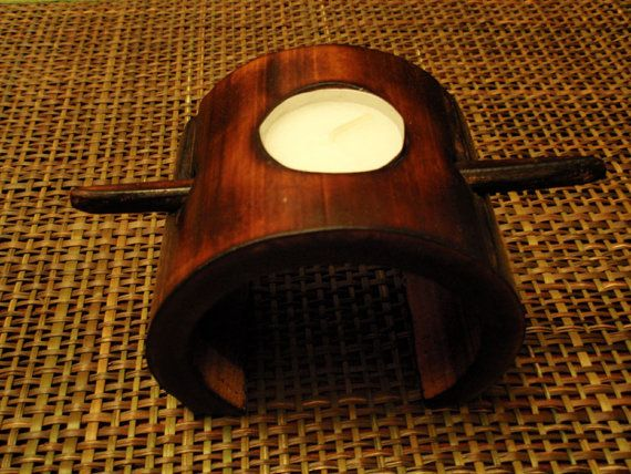 bamboe kaars houder brand genezen houten gift geschenk door bamboobg