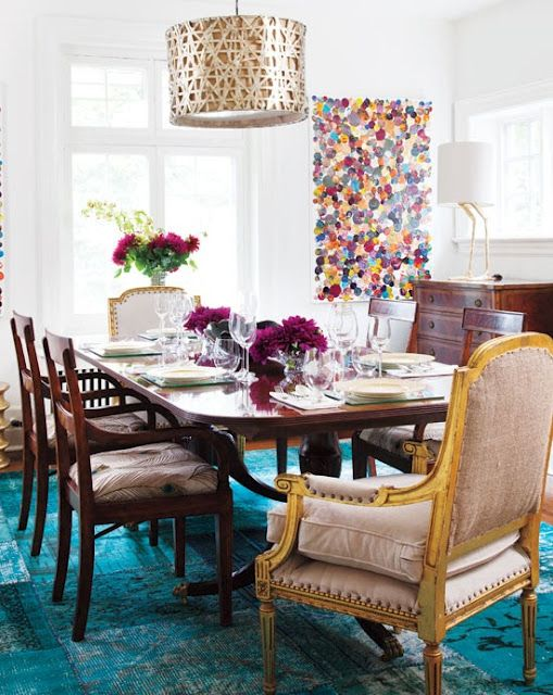 Pretty Inspirational: Recent Projects: Over Dyed Rugs and Oriental Rugs