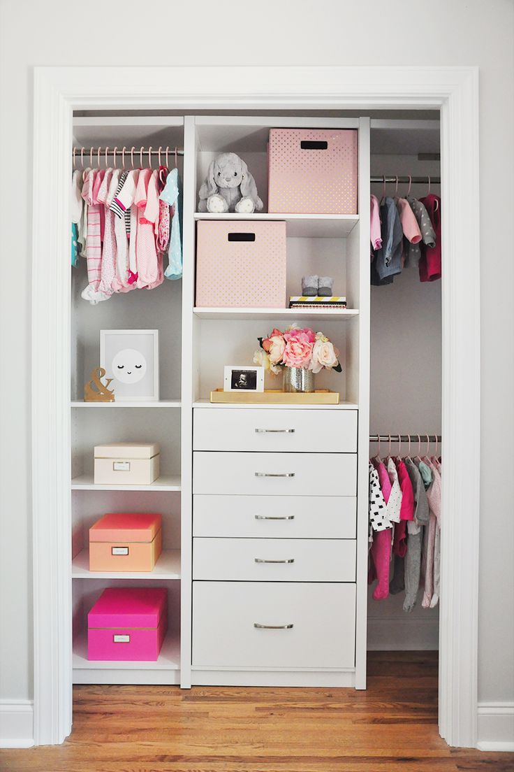 Preparing for a new baby is a whole lot easier with a #nursery room this organized and beautiful! Head over to @FOXYOXIE's blog now to see the full tour and how she used #SpaceCreations to create a dream nursery closet!