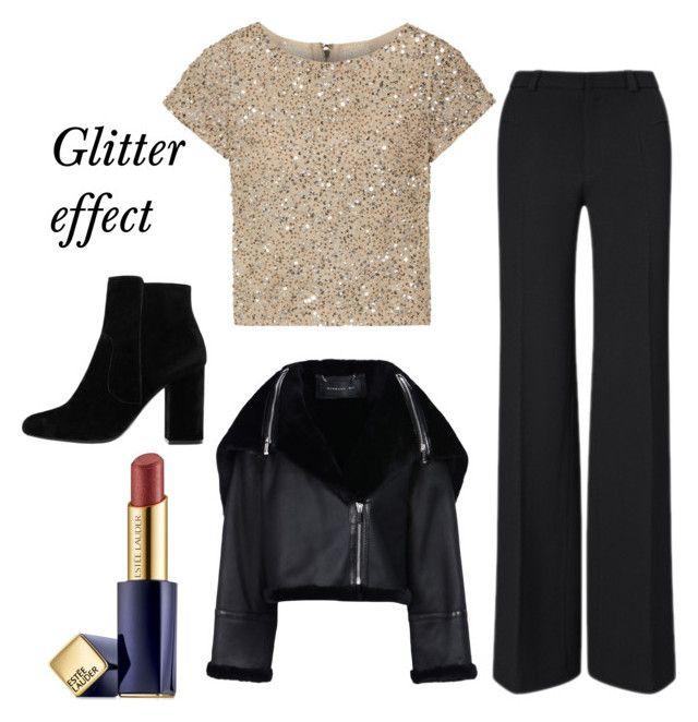 """Glitter"" by fpantopikou on Polyvore featuring Alice + Olivia, Roland Mouret, MANGO, Barbara Bui and Estée Lauder"