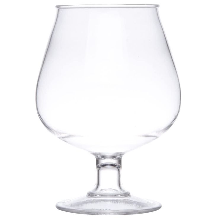 "The GET BRA-2 16 oz. clear polycarbonate plastic brandy glass is perfect for your bar, restaurant, or catering operation. These work great for appetizers, desserts, and decorative uses. Use it over and over again with no need to worry about breakage. <br><br><b><u>Dimensions:</B></u><br>Top Diameter: 3""<br>Bottom Diameter: 2 3/4""<br>Maximum Diameter: 4 1/2""<br>Height: 5 1/2"""