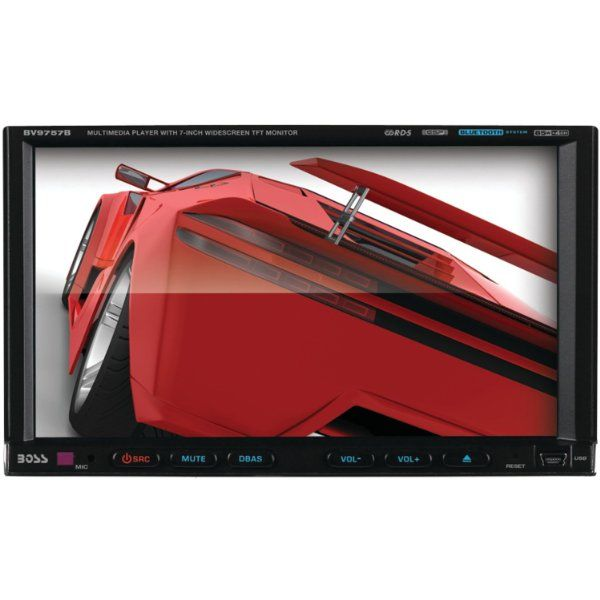 Radio para Auto BOSS BV9757B de Doble DIN con pantalla táctil motorizada de 7 pulgadas para DVD/CD/USB/ SD/MP4/MP3/Bluetooth, manos libres Bluetooth http://guatemaladigital.com/Producto.aspx?Codigo=18056