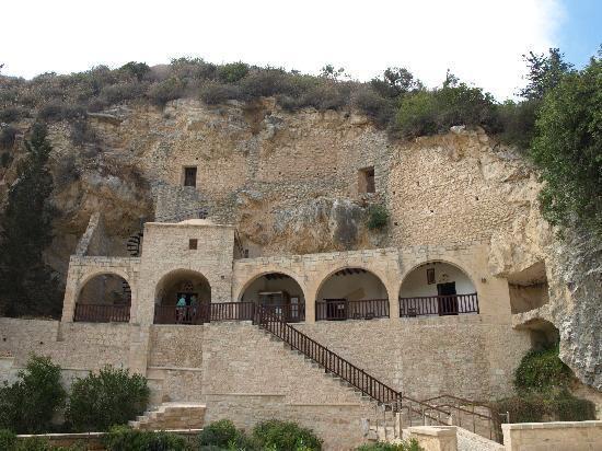 Hermit caves.  Monastery.