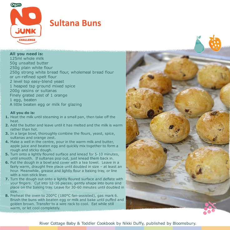 NO JUNK SNACK From River Cottage - simple but delicious sultana buns - Lunchbox ideas