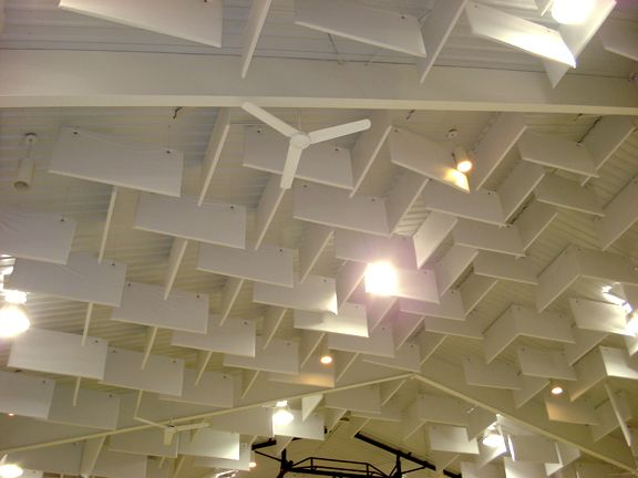 Cloudscape Ceiling Baffles Encapsulated Pvc Vinyl Baffles