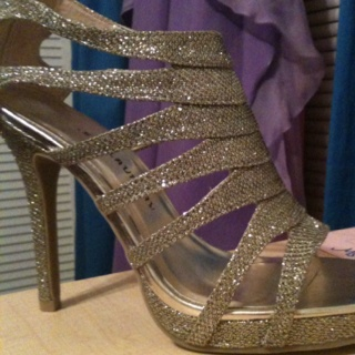 Prom shoes :) silver would be cuter..