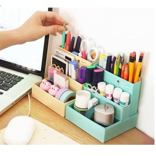 Corée papeterie maison café gâteau bureau boîte de rangement boîte bricolage de stockage cosmétique pliage