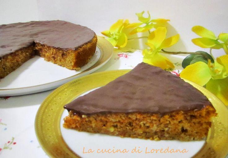 #Dolce alle carote #guarnito con la #glassa al cioccolato @guarnireipiatti
