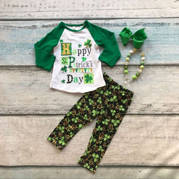 >> Click to Buy << new arrival baby girls Happy  St Patrick's Day clothing girls Shamrock outfits children Shamrock pant with accessoreis #Affiliate