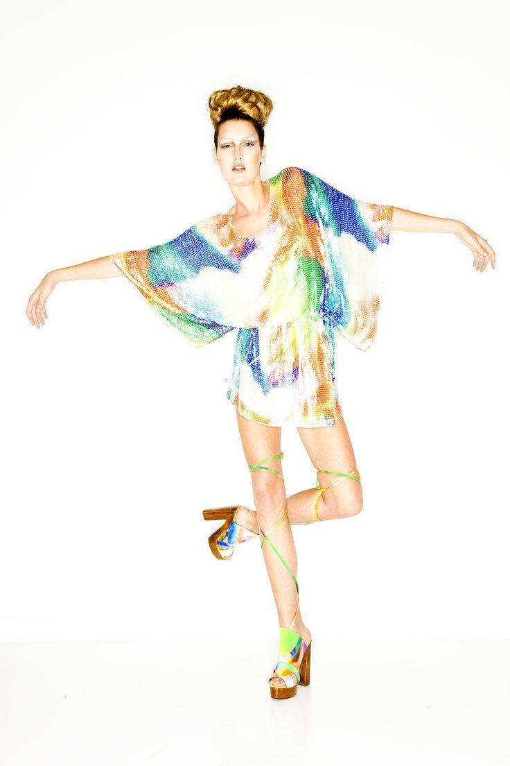 AURA - Drawstring mini sequin dress  | SS10 | BABYLON | @CAMILLAWITHLOVE #CAMILLAWITHLOVE