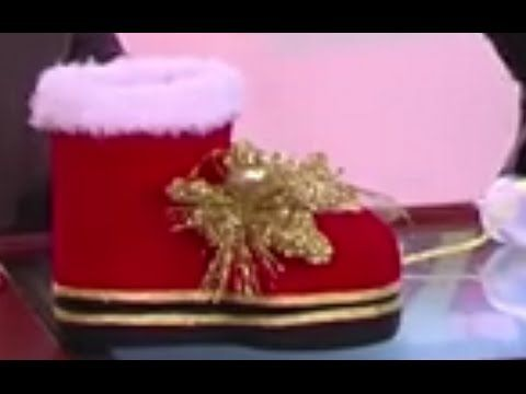 Como hacer una Bota de Navidad Reciclable - Hogar Tv por Juan Gonzalo Angel - YouTube