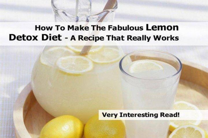 How To Make Lemon Detox Diet that Really Works