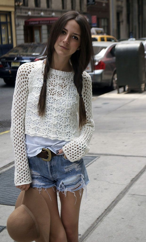 Can practicality equate to style?  The top in this look is from Topshop, the shorts are Levi's, the chunky-buckled belt is from Ralph Lauren and the hat is from H.
