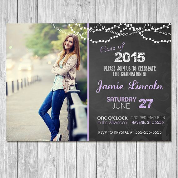 Make fabulous memories for the graduate with this gorgeous, unique Graduation invitation. This Graduation Invitation comes in either 5x7 or 4x6