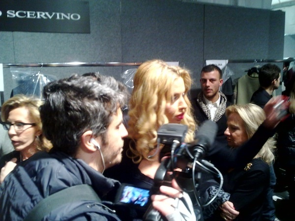 Milan Fashion Week - Valeria Marini e PIF at Ermanno Scervino backstage