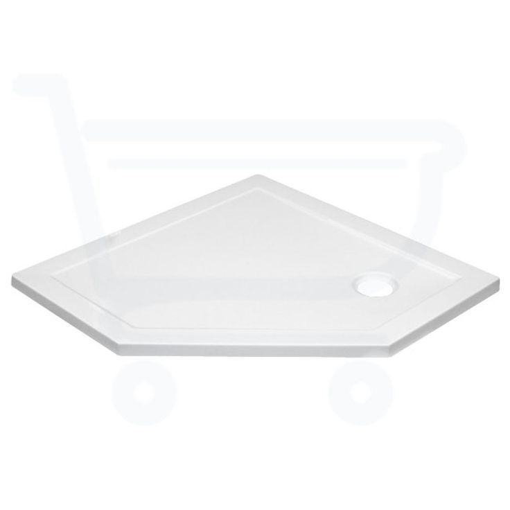 Saniclass Diamond douchebak 90x90x4cm vijfhoek wit - SW1188 - Sanitairwinkel.be