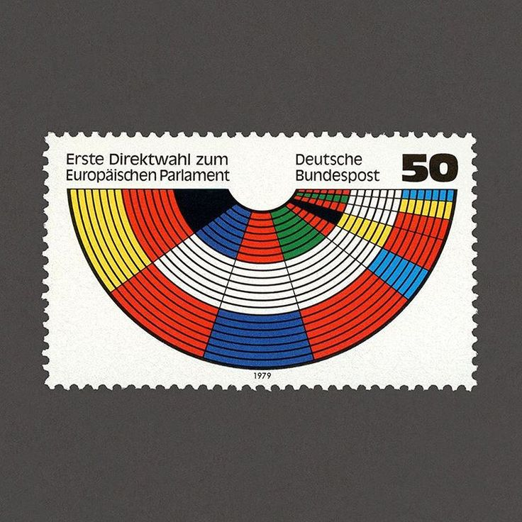 Deutsche Bundespost – First Direct Elections to European Parliament Stamp. Design by  Erwin Poell, 1979