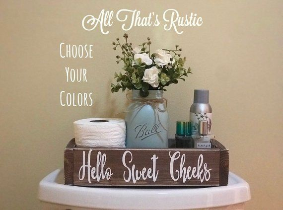 Hello sweet cheeks, hello sweet cheeks box, nice butt, bathroom humor, bath sign, bathroom decor, toilet paper holder, gift