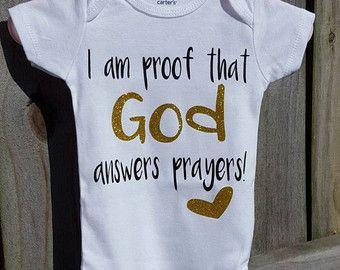 God made me. Answered prayers Bodysuit. Baby by LittleLoviesChic