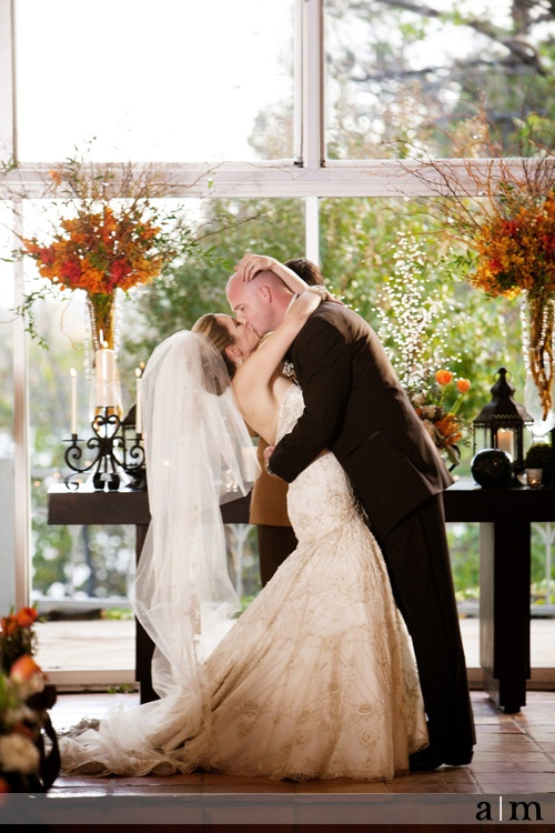 Best first kiss picture ever. Wedding at Camp Loughridge. --photo by Andrea Murphy Photography