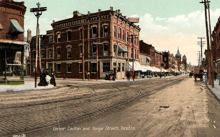 Corner of Carlton Street & Yonge Street, Toronto, Ontario ca. 1910