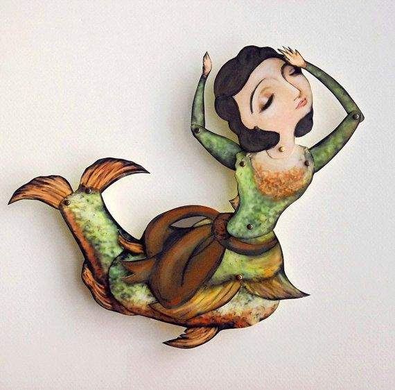 Lady Fish Paper Puppet Doll - The Catch of the Day! A Decorative Mermaid Art Gift for mom, aunt, graduation, daughter, graduate, best friend...
