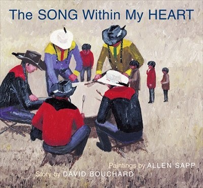 "Song Within My Heart - ""Based on Cree painter Allen Sapp's childhood memories of life on a reserve in Saskatchewan, a young boy who is getting ready to go to a powwow. Woven throughout is the boy's close relationship with his Nokum (grandmother). The illustrations reinforce strongly the simplicity of life on a reserve, the significance of the powwow and, of course, the love between grandmother and grandson.""  Buy"