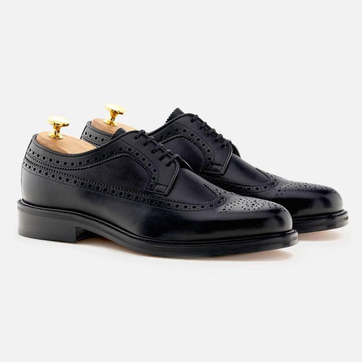 Royce Longwings - Calfskin Leather - Black