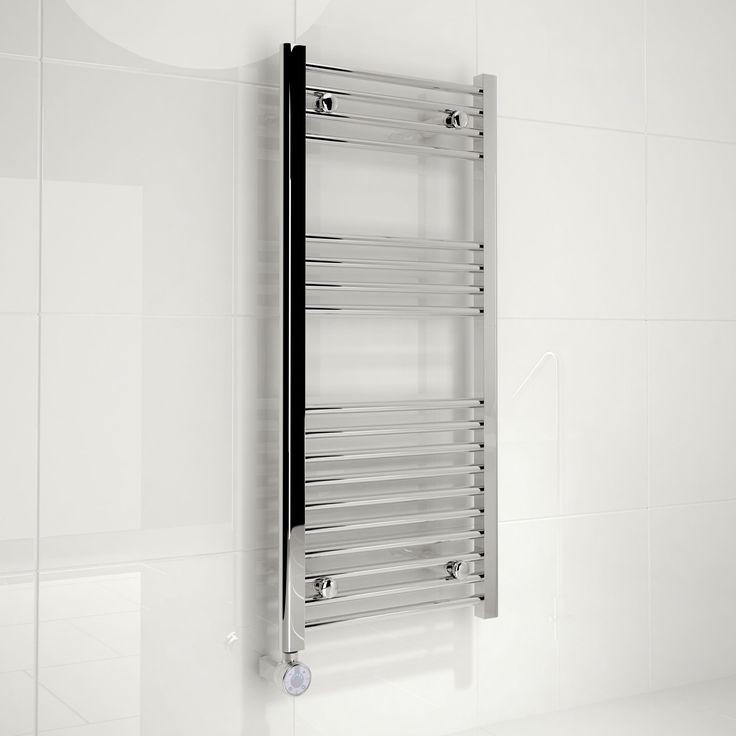 Kudox Electric Silver Towel Rail H 1000mm W 450mm
